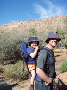 A bushwalk together in Central Australia