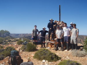 Scott leading a group of young men on the Larapinta Trail Central Australia