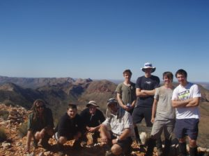 Standing at 1209m in the centre of Australia. Do you think it hurt? Yep! Is this group proud of the achievment? You bet!